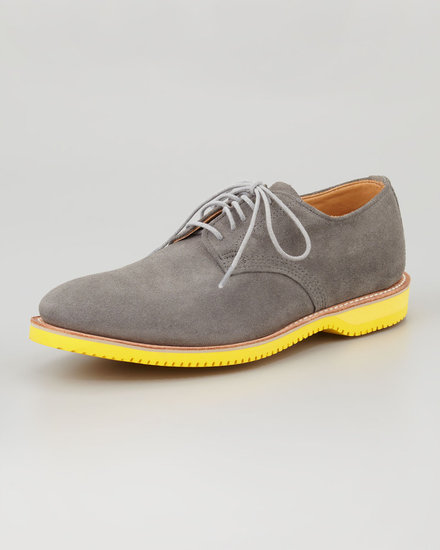 Walkover Chase Suede Derby, Gray/Yellow