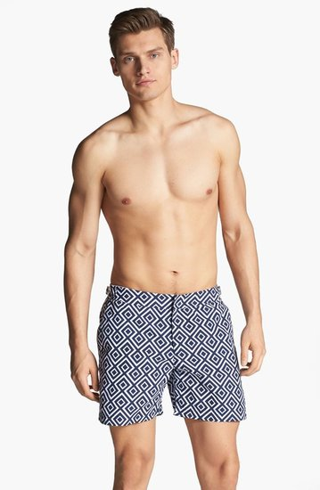 Orlebar Brown 'Bulldog - La Fiorentina' Print Swim Trunks