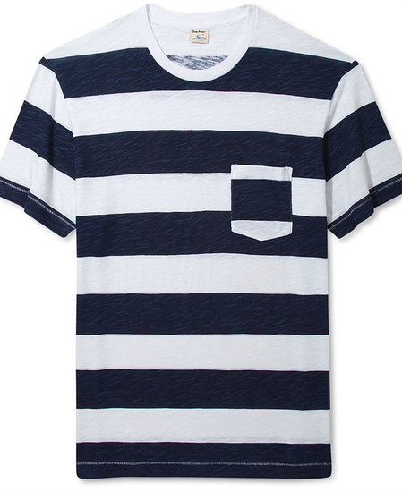 Lucky Brand Jeans Shirt, Printed Stripe Crew Neck T-Shirt