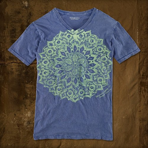 Denim & Supply Mandala-Print V-Neck Tee