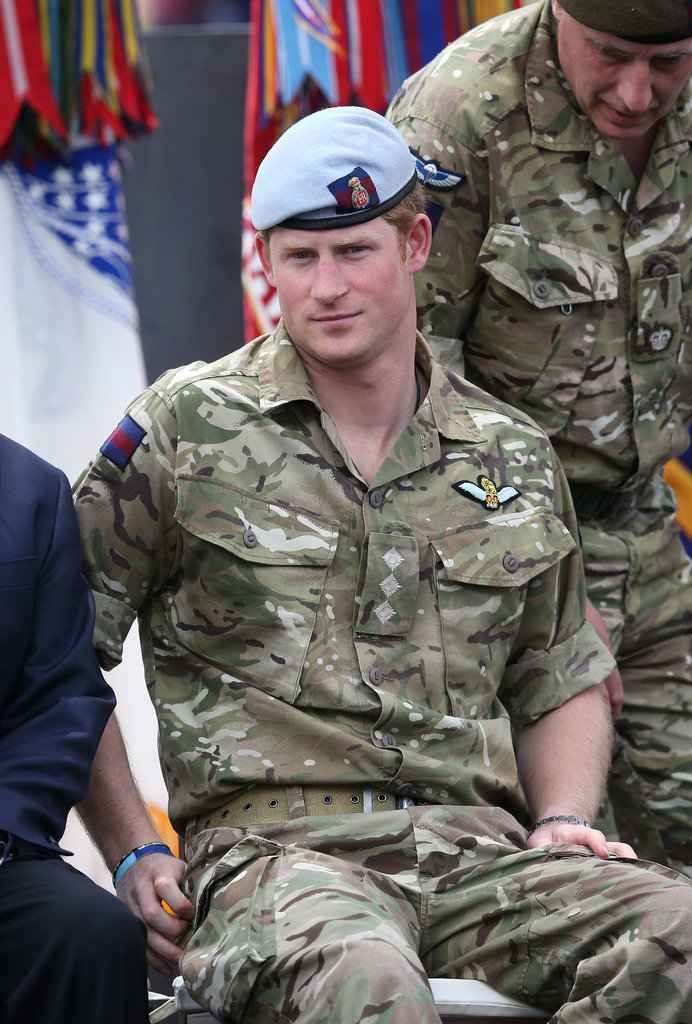 Prince Harry attended the torch-lighting ceremony for the Warrior Games in Colorado Springs, CO, on Saturday.