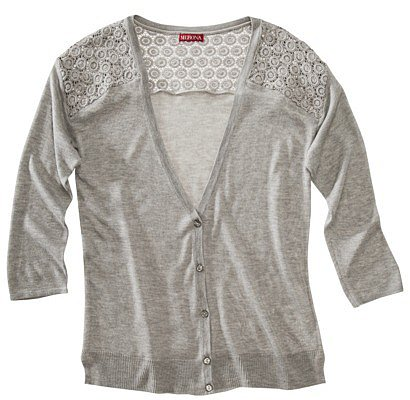 Merona® Women's Cardigan Sweater w/Crochet Insets - Assorted Colors