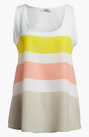 You can't go wrong with fun, sherbet shades — which is why we're loving this BB Dakota Kennon Stripe Tank ($48).