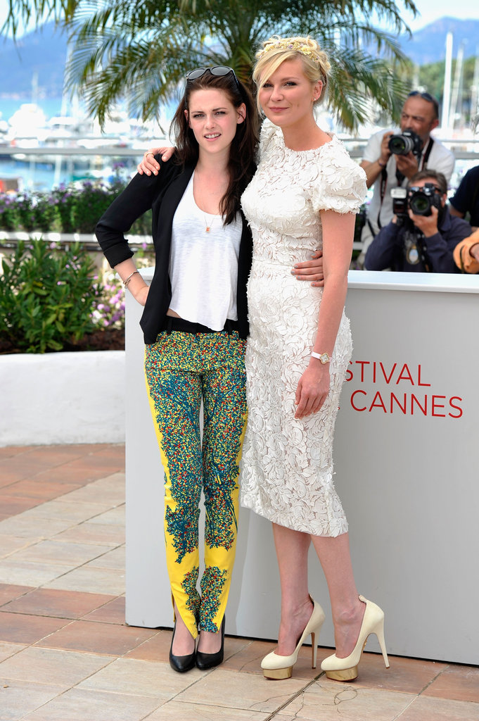 Kristen Stewart and Kirsten Dunst hugged at the Cannes Film Festival in 2012 during a photo call for On the Road.