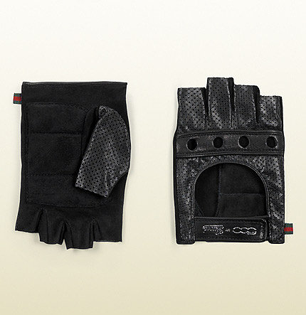 Driver Gloves With '500 By Gucci' Script Detail.