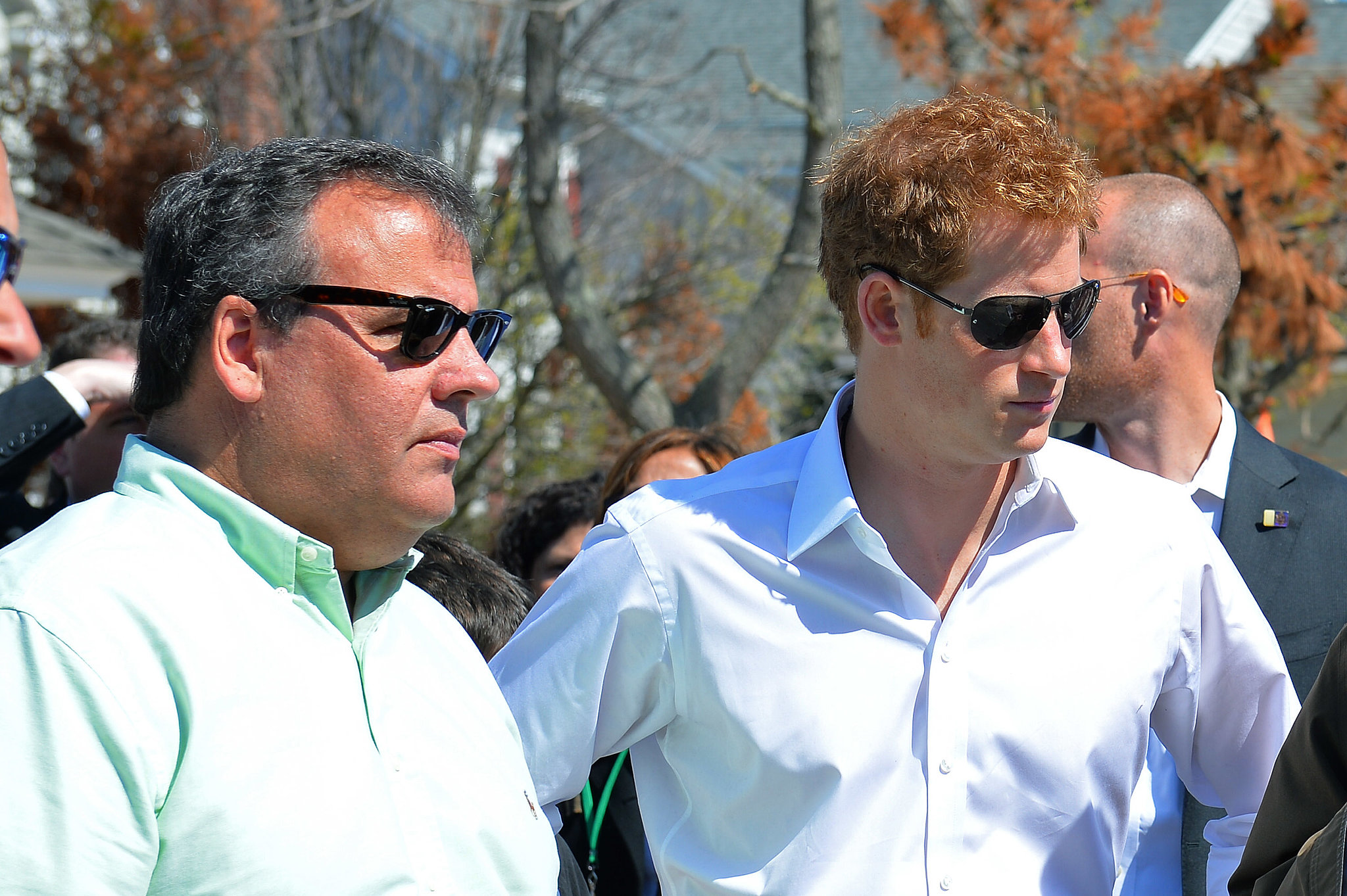 Prince Harry surveyed the destruction left behind from Hurricane Sandy at the Jersey Shore.