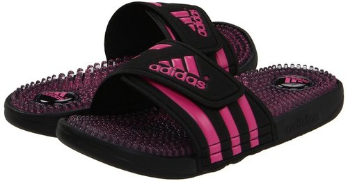 adidas - adissage Fade (Black/Intense Pink) - Footwear