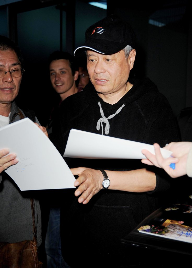 Director Ang Lee was greeted by a swarm of fans in Nice, France, on Monday.