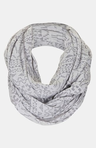Topshop 'Geometric Burnout' Infinity Scarf