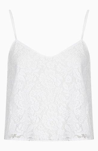 Topshop Lace Crop Camisole