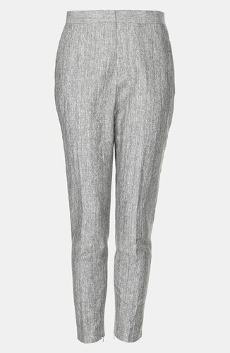 Topshop 'Preppy Fleck' Skinny Trousers