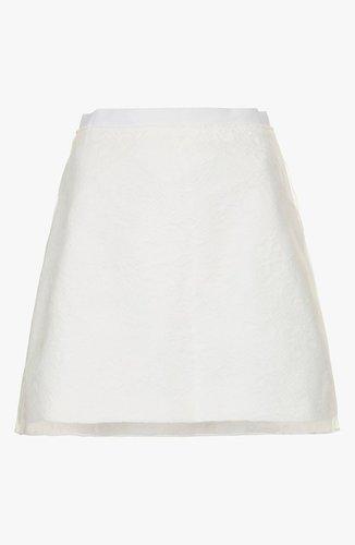 Topshop Jacquard & Organza Skirt