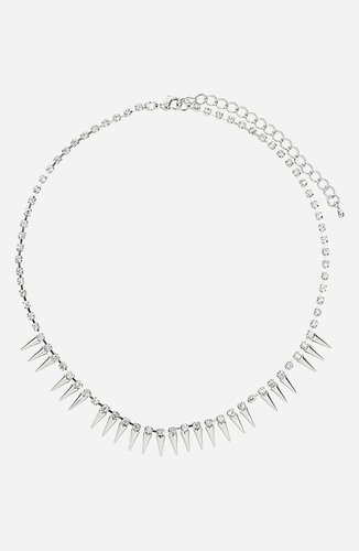 Topshop Rhinestone Chain Necklace