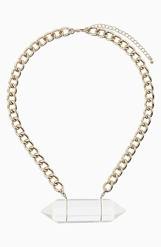 Topshop 'Shard' Collar Necklace