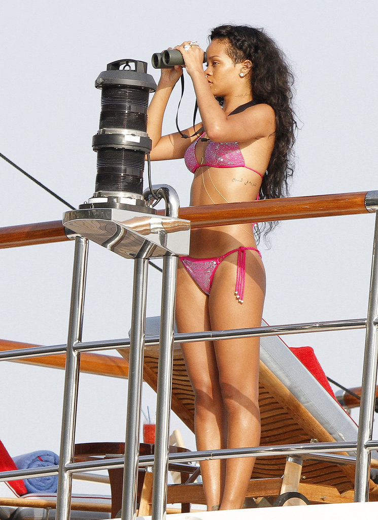 Rihanna did some sightseeing while on a boat in St. Barts back in July 2012.