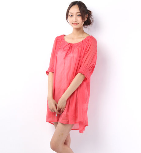 ローズ バッド (ATOLL PALME)33925 COTTON EMBROID HALF/S DRESS