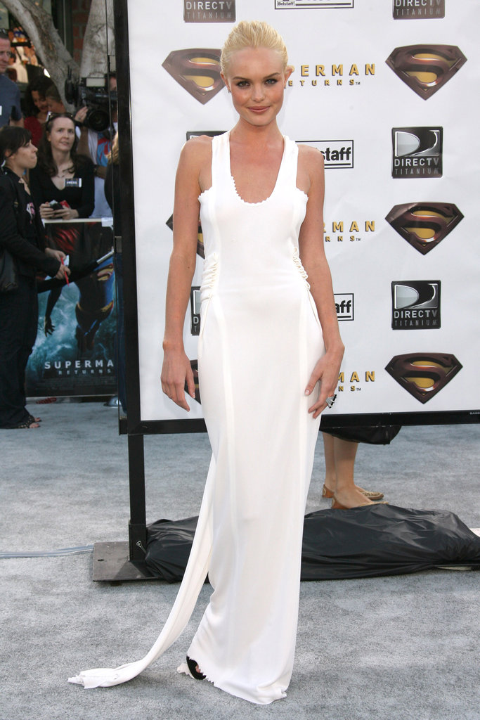 For the 2006 Westwood, CA, premiere of Superman Returns, Kate looked angelic in a white floor-length gown that hugged every curve perfectly.