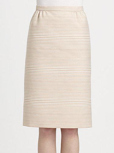 Marc Jacobs Degradé Stripe Jacquard Skirt
