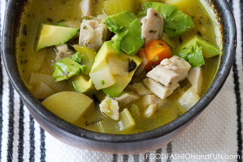 Roasted Green Chile Chicken and Potato Soup