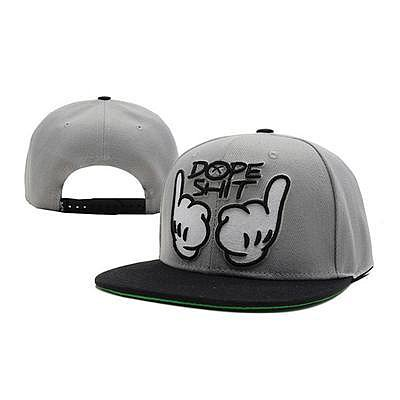 DOPE SHIT SNAPBACK HATS - GREY