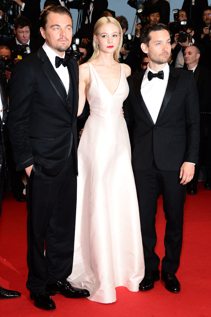 Carey Mulligan joined up with Leonardo DiCaprio and Tobey Maguire at the premiere of their film at the Cannes Film Festival.
