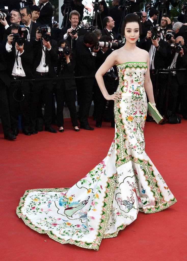 Fan Bingbing wore a heavily embroidered Christopher Bu gown to the 2012 Cannes premiere of Moonrise Kingdom.