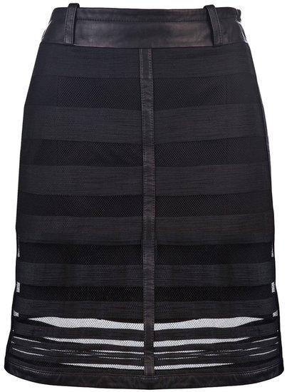 Kelly Wearstler Embroidered stripe skirt
