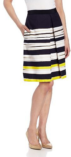 Anne Klein Women's Painterly Stripe Skirt