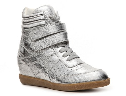 Heart Soul Ita Metallic Wedge Sneaker