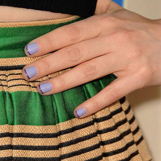 Pictures of Zooey Deschanel's Nail Art