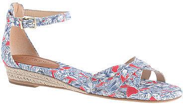 Marina mini-wedge espadrilles in Liberty print