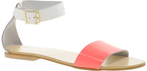 ASOS FLOCK Leather Flat Sandals