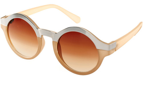 ASOS Metal Top Keyhole Round Sunglasses.