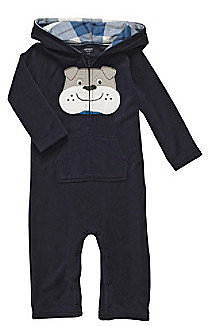 Carter's® Baby Boys' Navy Dog Hooded Jumpsuit