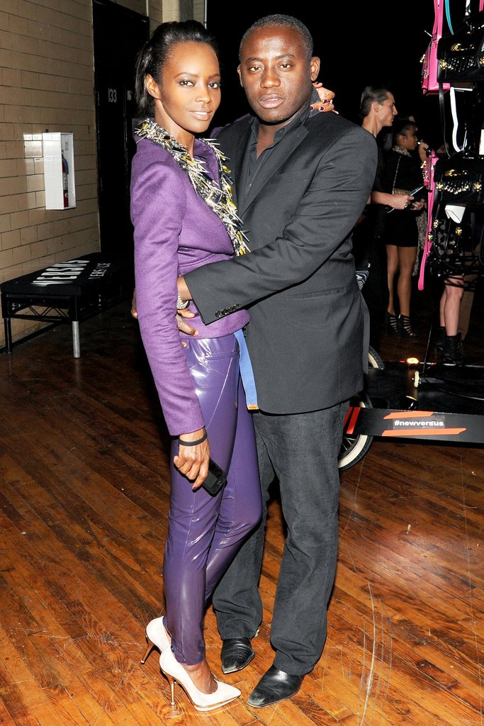 Kiara Kabukuru and Edward Enninful at the JW Anderson for Versus launch party. Source: Billy Farrell/BFAnyc.com