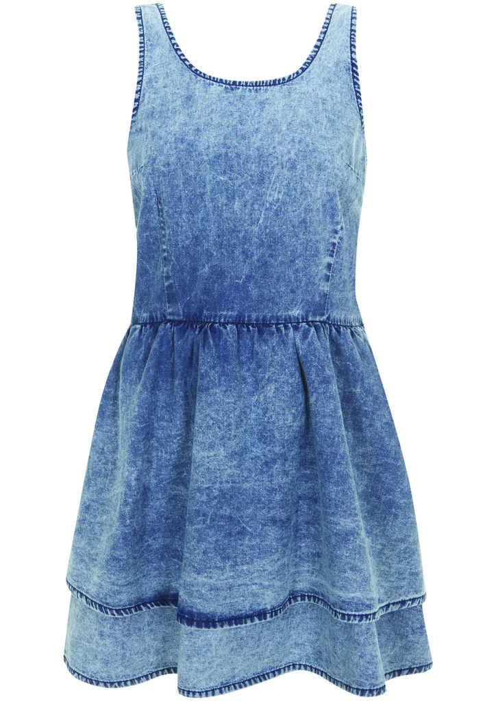 One Summer staple: the acid-washed denim dress from the Topshop Festival Collection for Summer 2013, inspired by Kate Bosworth.