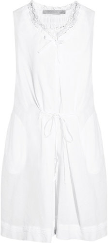 Vanessa Bruno Lace-trimmed cotton and linen-blend dress
