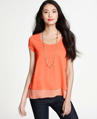 Double Layer Cap Sleeve Top