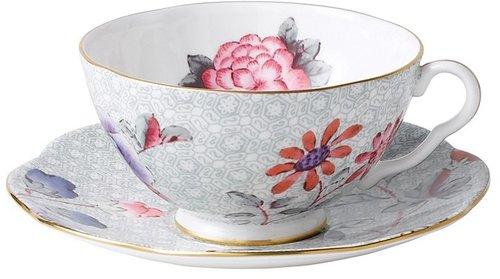 """Wedgwood """"Cuckoo"""" Tea Story Tea Cup & Saucer, Green"""
