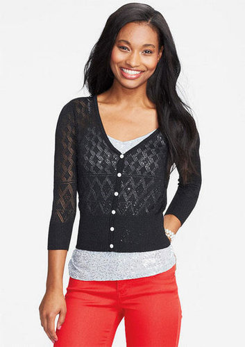 Lurex® Pointelle Cardigan