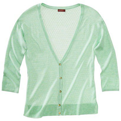Merona® Women's Pointelle Cardigan Sweater - Green