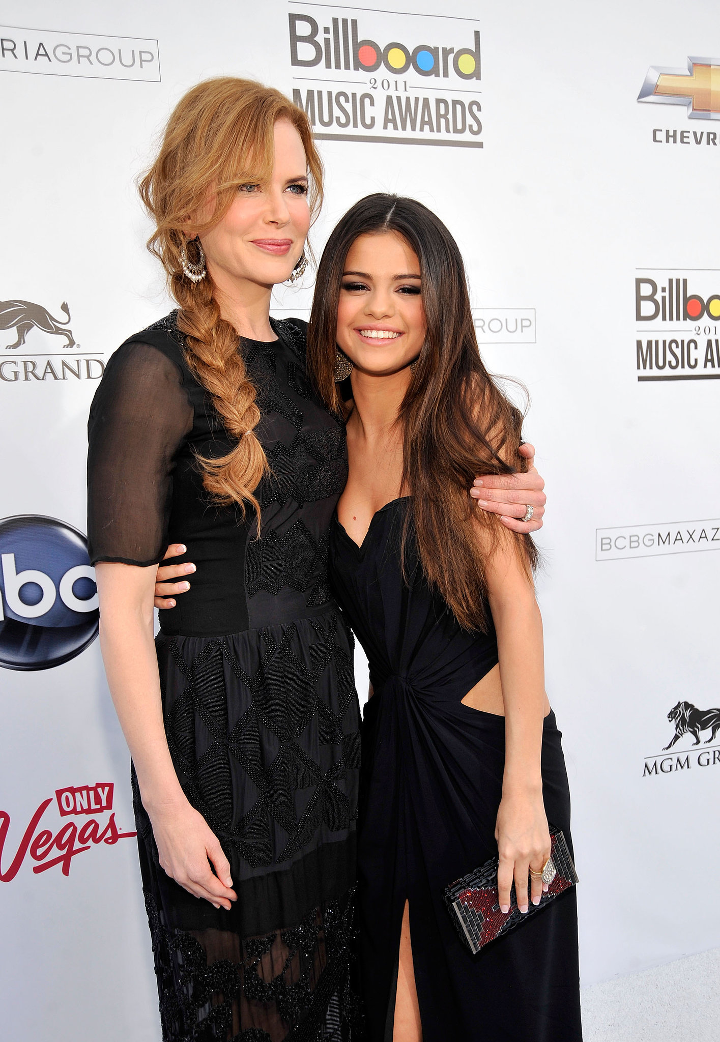 Nicole Kidman and Selena Gomez met up on the Billboard Music Awards red carpet in December 2011.