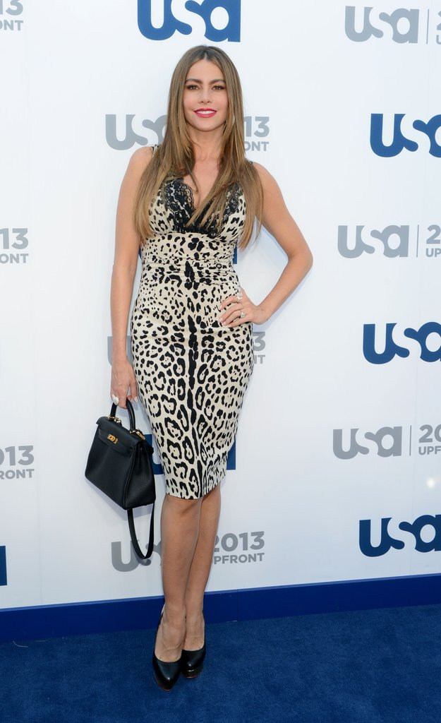 Sofia Vergara wore an animal-print dress.