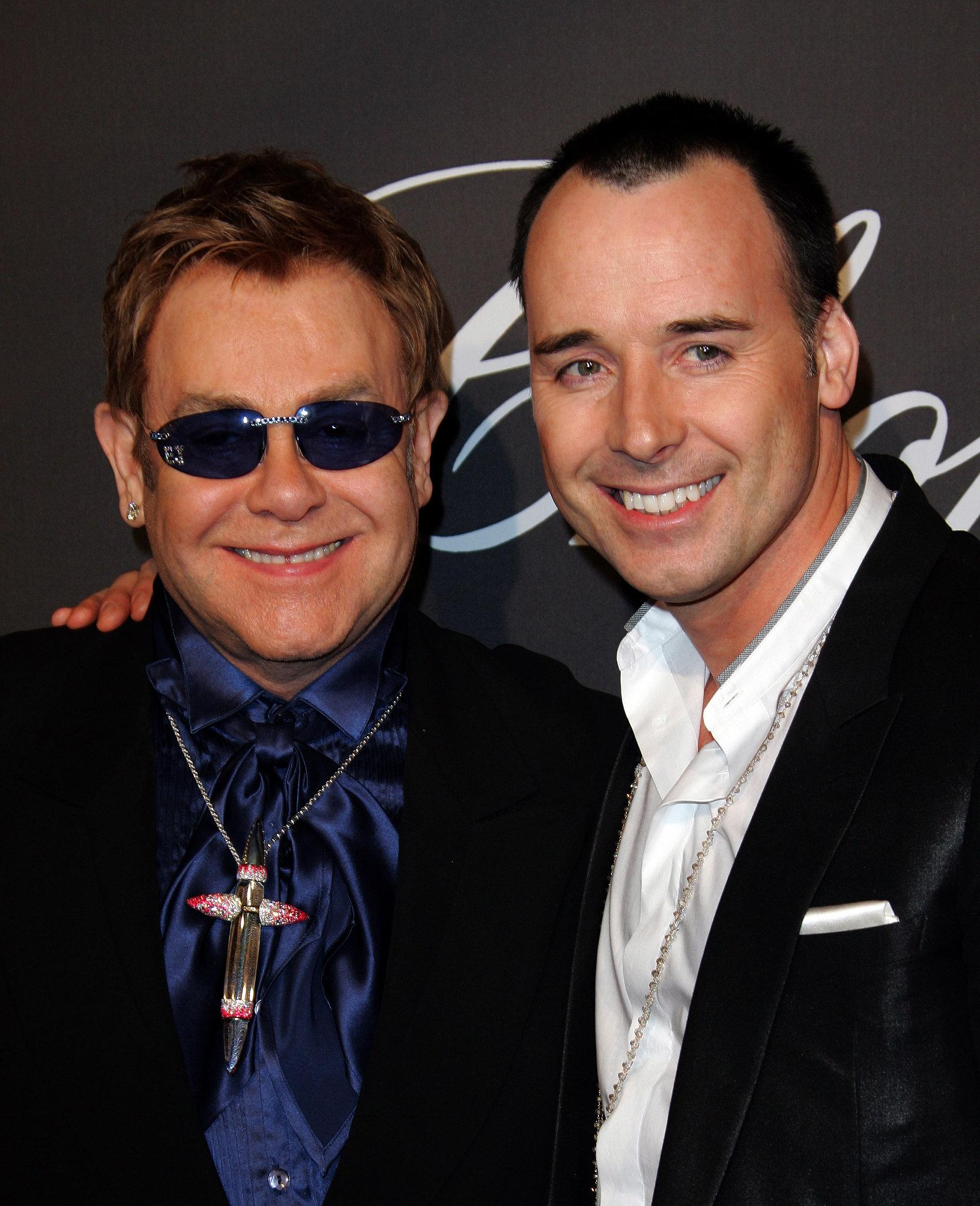Elton John and David Furnish in 2007