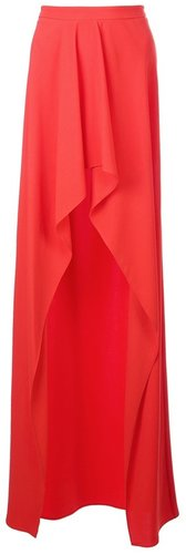 Vionnet long open ruffle skirt