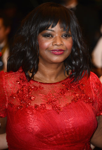At the Fruitvale Station premiere, Octavia Spencer styled her long bob into loose curls. Her red lipstick and smoky eye combination added a dose of drama.