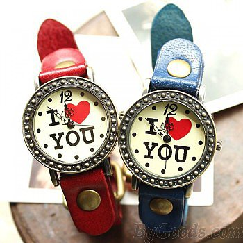 Romantic Retro  I love You Watches