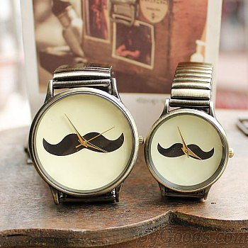 Creative Elasticity Beard Couple Watches