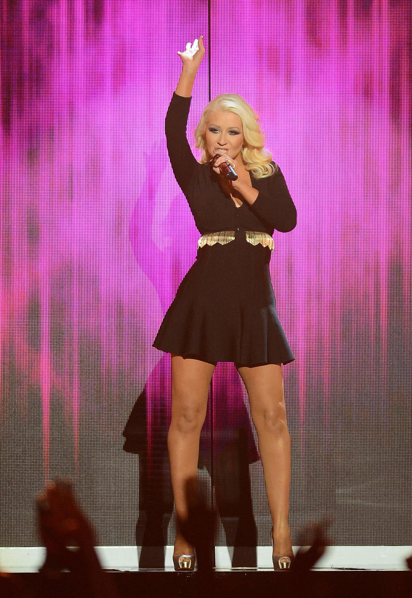 Christina Aguilera performed with Pitbull at the Billboard Music Awards.