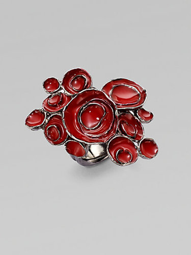 Saint Laurent Arty Flower Ring